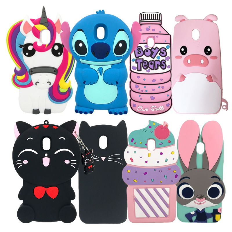 For <font><b>Samsung</b></font> Galaxy <font><b>J7</b></font> 2017 Case J730 J730F/DS Cute <font><b>3D</b></font> Stitch Cat Cartoon Cover Silicone Phone Case For <font><b>Samsung</b></font> <font><b>J7</b></font> Pro EU Version image