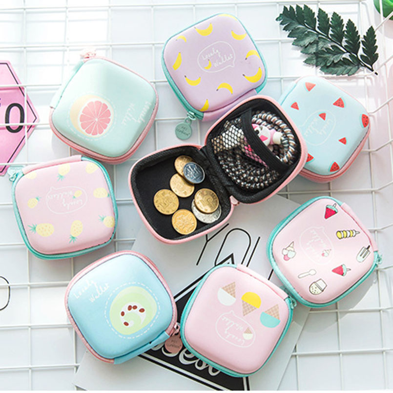 New Cute Electronic Digital Storage Bag Case For Earphone EVA Headphone Container USB Cable Earbuds Box Pouch Holder