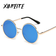 XINFEITE 2017 Fashion Women Sunglasses Men Vintage Round Sun Glasses Female Luxury High Quality Alloy Driving Oculos De Sol Male