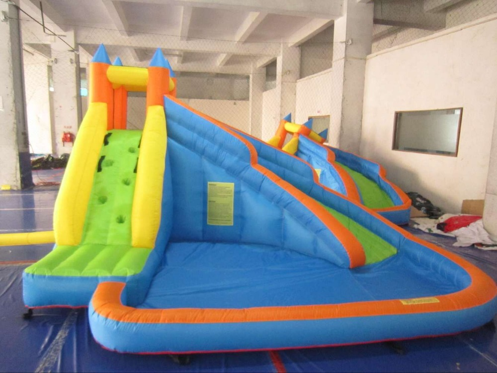 Free Shipping Giant Swimming Pool Inflatable Water Slide For Indoor And Outdoor In Slides From