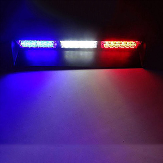 Police Led Lights >> 18 Led 12v Car Windshield Police Emergency Light Strobe Flash Safety Warning Led Lights Blue White Red In Car Light Assembly From Automobiles