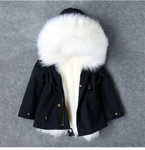 Image 4 - Cold Russian Winter Girls Jackets 2019 Boys Coat Hooded Faux Fur Children Parkas Casual Thicken Warm Baby Kids Clothes Outerwear