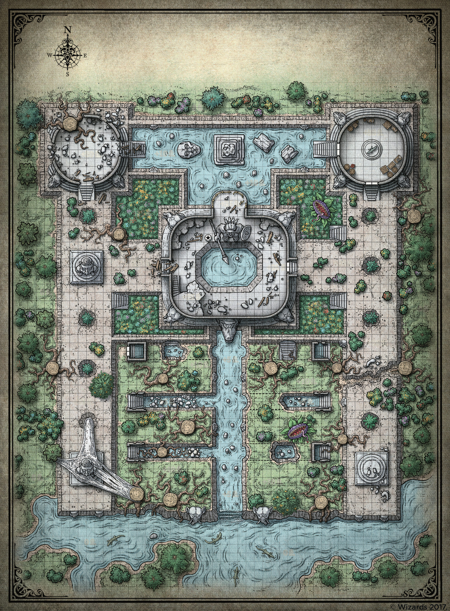 US $3.73 25% OFF|Vintage D&D Dungeons and Dragons Maps Poster Seaside on