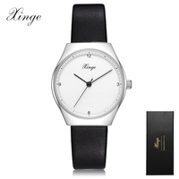 New Xinge   Watches   Women Clock   Dress     Watch   Ladies Casual Leather Quartz-  Watch   Luxury Silver Simple Wrist   Watch   Gifts