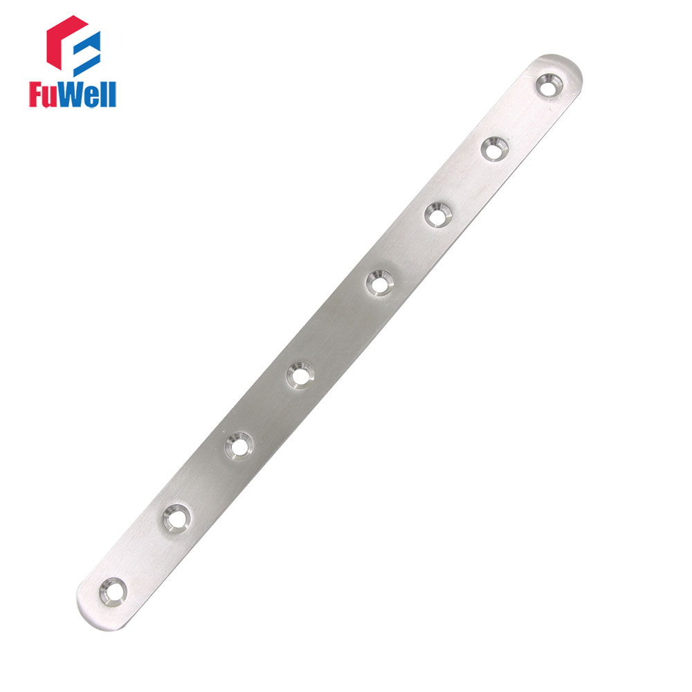 2pcs 245mm x 20mm Straight Bracket 201 Stainless Steel 3mm Thickness Mending Repair Plate Connector Flat Bracket 10pcs 57mm x 16mm straight bracket 201 stainless steel 1 8mm thickness mending repair plate connector flat bracket