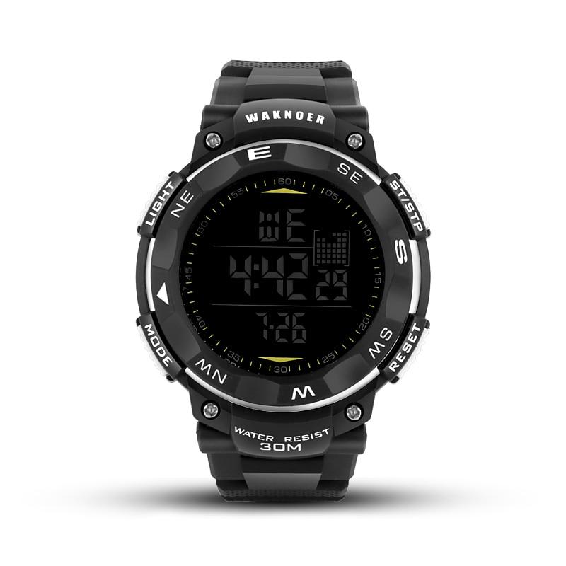 WAKNOER Top Marque De Luxe Montre Numérique Hommes Sport Montre Étanche Hommes de Montre Horloge saat relogio masculino relojes para hombre