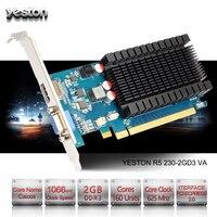 Yeston Radeon R5 230 графический процессор 2 Гб GDDR3 64 бит игровой настольный компьютер ПК видео Графика карты Поддержка VGA/HDMI PCI-E X16 2,0