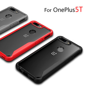 Image 2 - Oneplus 5t Case shockproof Clear Case For OnePlus 5t 5 6 Soft TPU Silicone+Hard Acrylic transparent Full Protective Back Cover