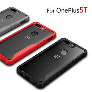 Image 2 - Oneplus 5t מקרה עמיד הלם מקרה ברור עבור OnePlus 5t 5 6 רך TPU סיליקון + קשה אקריליק שקוף מלא מגן כיסוי אחורי