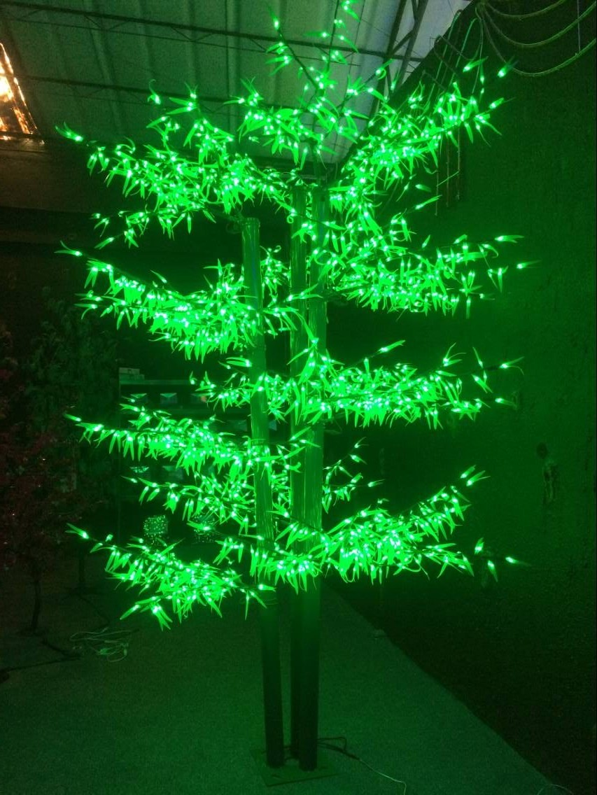 Christmas Green Color.6 6ft 2meters 1152 Leds Bamboo Tree Light Green Color