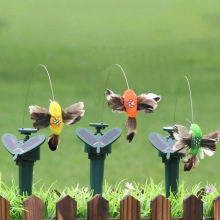 Colorful Vibration Solar Power Dancing Flying Fluttering Butterflies Hummingbird Home Garden Easter Decoration