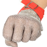 Anti Cutting Steel Wire Protecting Gloves With Excellent Steel Rings Reinforced And Strong Wear Resistance Safety