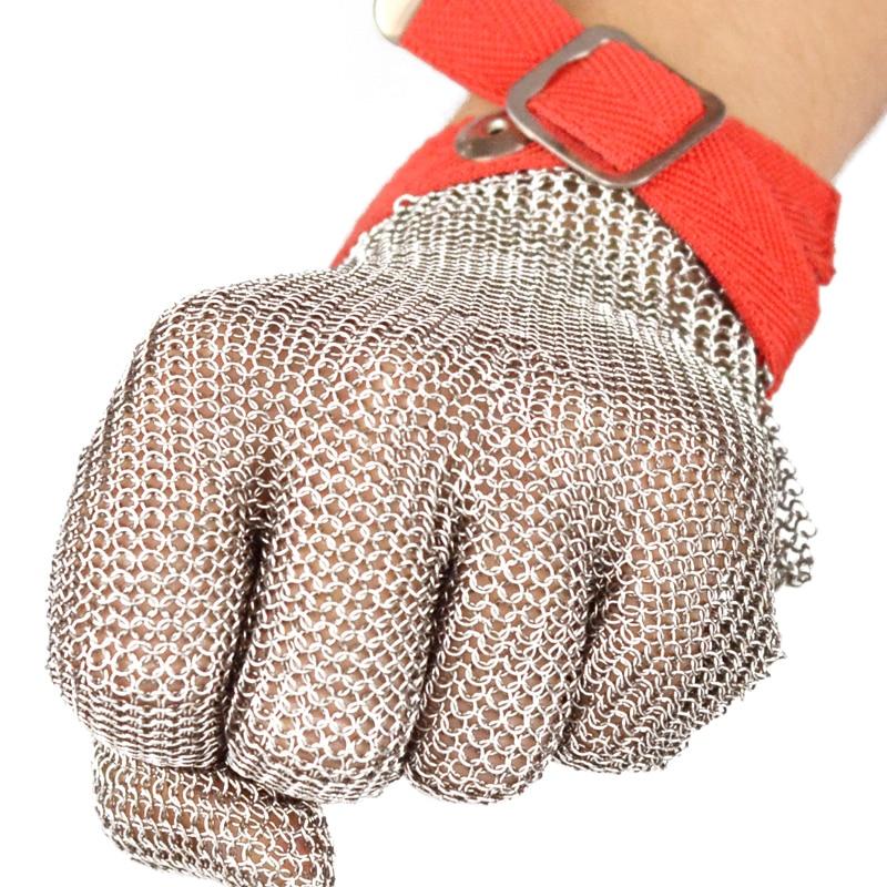 Apsauginės pirštinės nuo pjovimo su plienine viela, pasižyminčiomis puikiomis plieno žiedais, sustiprintomis ir tvirtomis apsauginėmis pirštinėmis