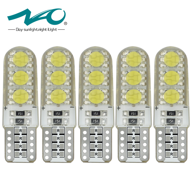 5x W5W LED T10 5050 COB Bulb 168 194 Car Turn Signal Light Trunk Lamp Interior light 12V White Auto Light for lada NAO 2x car led w5w t10 194 clearance light for lada granta vaz kalina priora niva samara 2 2110 largus 2109 2107 2106 4x4 2114 2112