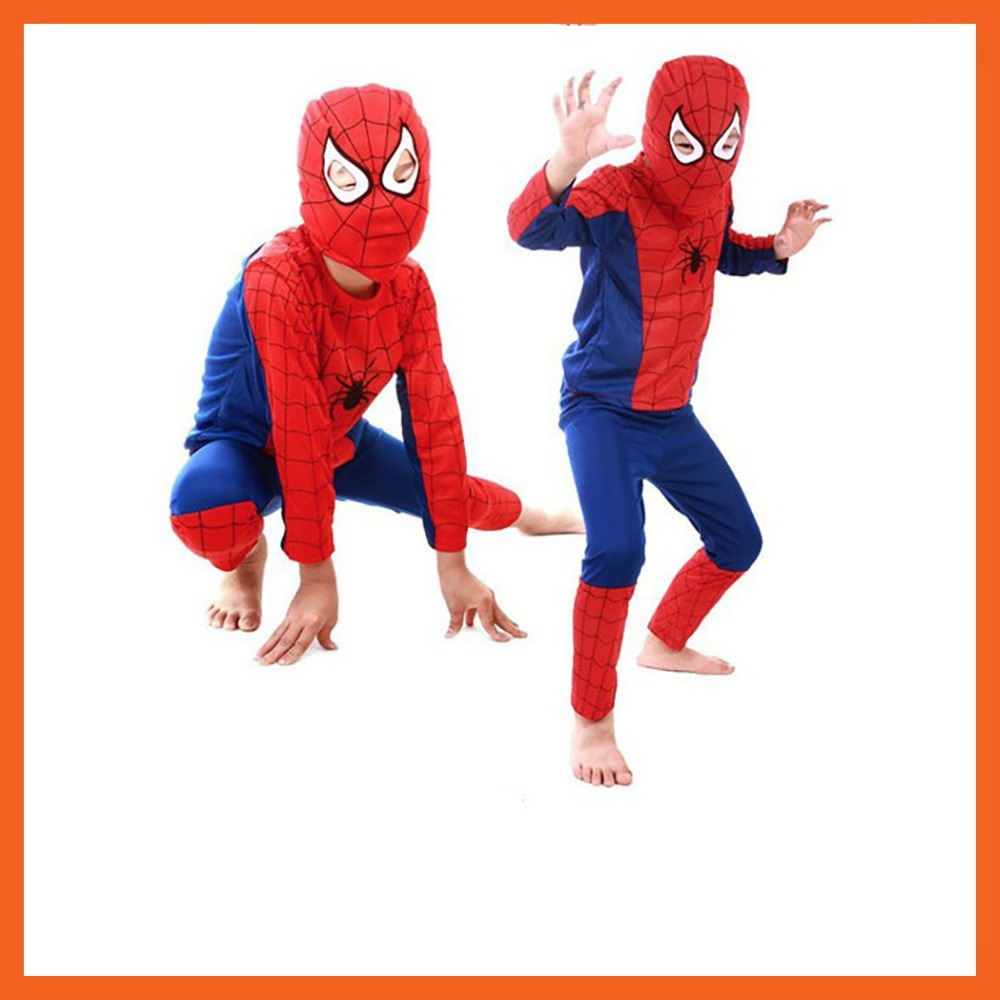 FACTORY DIRECT SELLING CHILD RED SPIDERMAN COSTUME SPIDERMAN HALLOWEEN SUPERHERO COSPLAY CARNIVAL COSTUME FOR KIDS