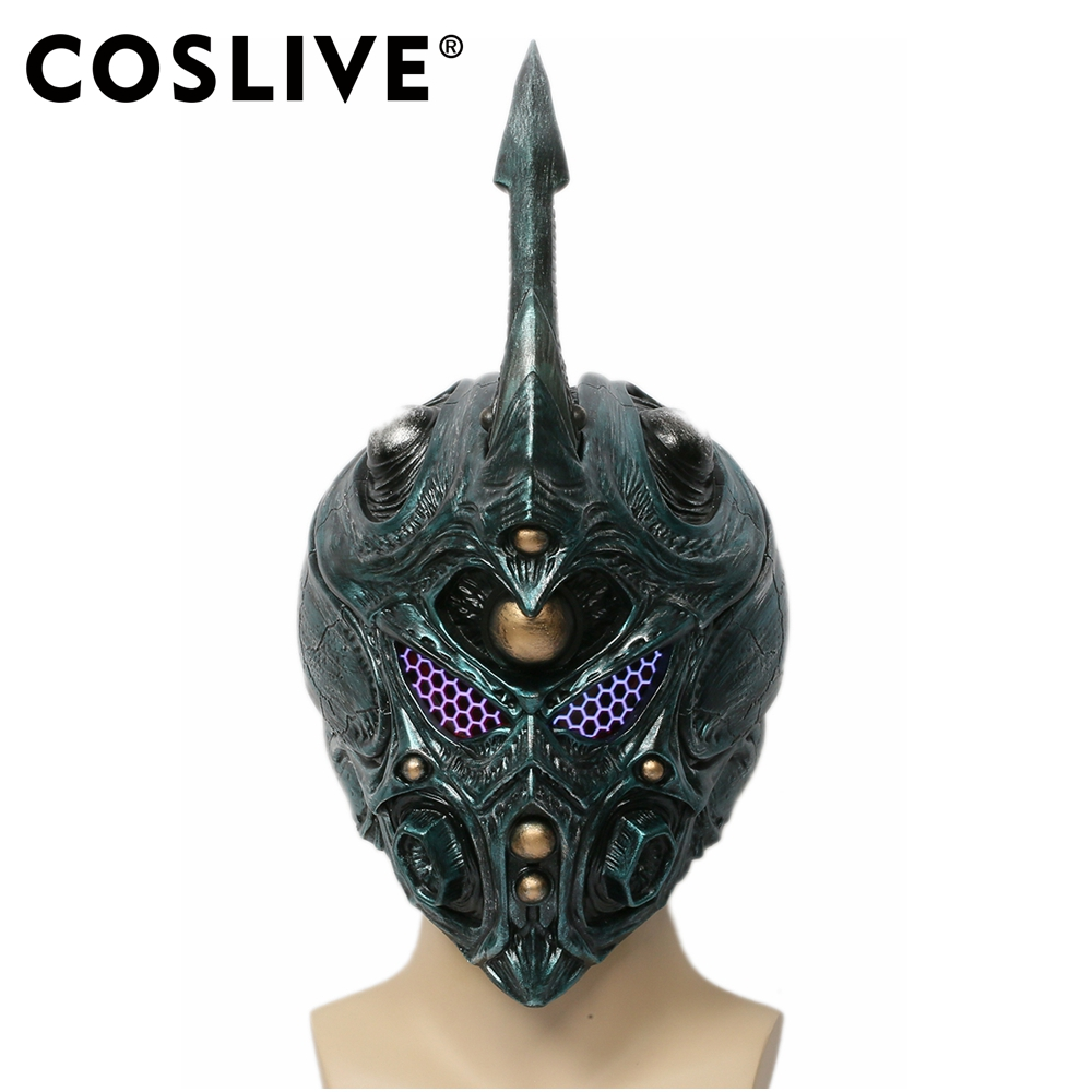 Coslive Bio Booster Armor Guyver Dark Green Helmet With Detachable Horn Cosplay Mask Bio Booster Armor Guyver Helmet With The Best Service