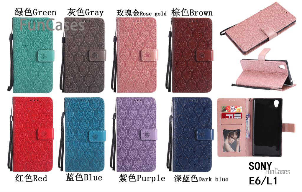 רגיל תיק עור PU Case Flip sFor Coque Sony E6 גפן נרתיקי טלפון קייס קליפים sFor Sony Xperia L1 חמוד חמוד פגושים Phonea