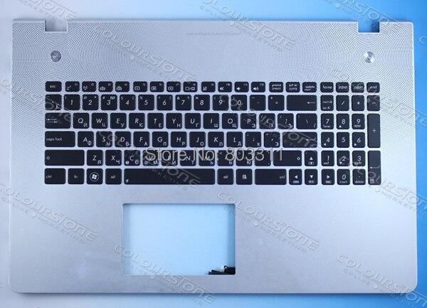 RUSSIA Black with cover C Laptop keyboard notebook RU keyboard for ASUS N76 Backlit Keyboard
