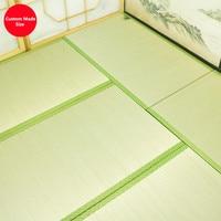 Custom Made Thick 3.0cm/3.5/4.5cm Japanese Traditional Igusa Tatami Mat Woven Rush Straw Mats Sleeping Flooring Judo Mattress