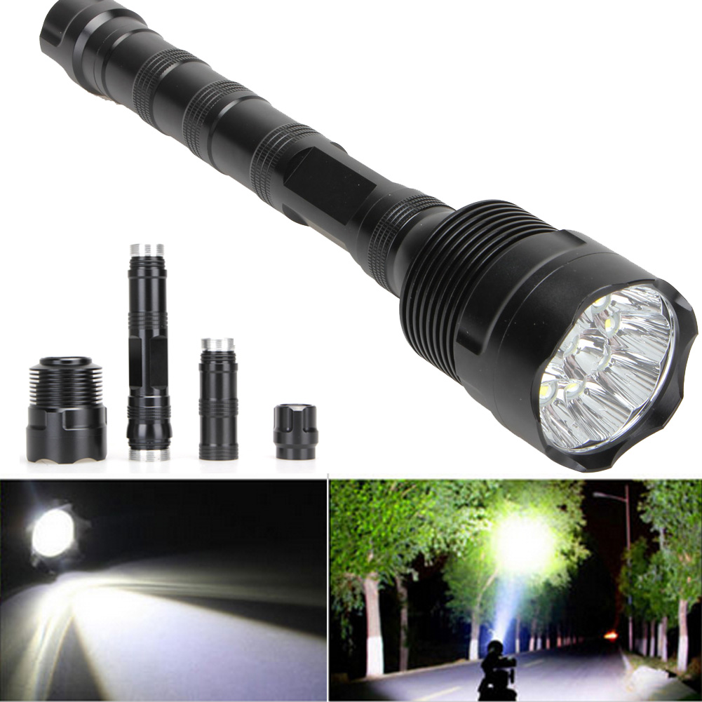 цена на High Power 28000 Lumens 11LED 5 Mode CREE XML T6 Super Bright Aluminum LED Flashlight Zoomable Torch lights Outdoor Tools