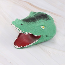 Hand Puppet Animal Head Hand Puppets Kids Toys Gift Soft Vinyl Figure Vividly TPR Crocodile(China)