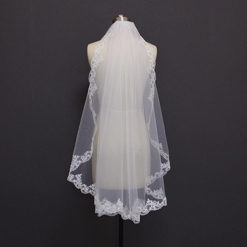 1.2 Metra Lace Edge One Layer Veil Dasma 2019 Nusja Nusërie Nusërie - Aksesorë dasme - Foto 3