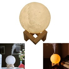 Multi-fuction Air Humidifier Essential Diffuser 3D Moon
