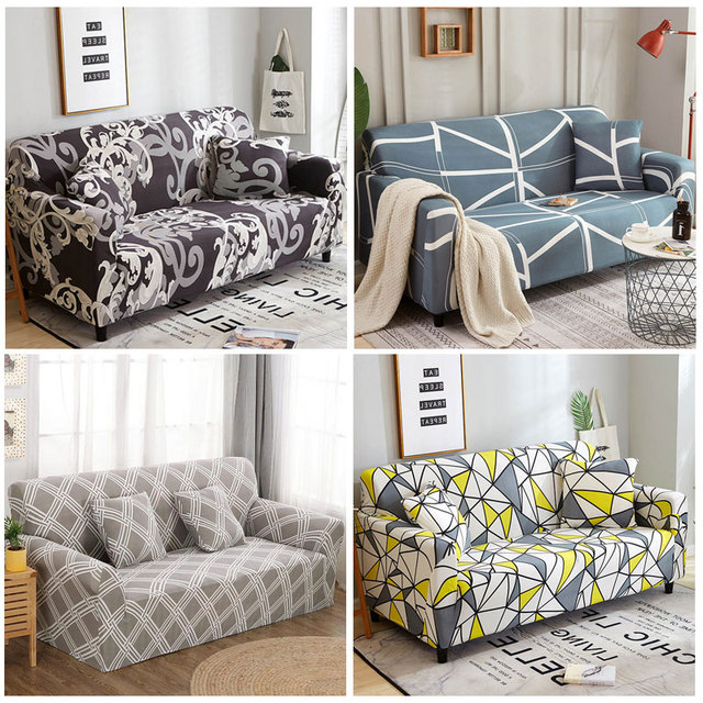 US $6.05 52% OFF|Spandex Sofa cover Slipcover Elastic Sofa Covers for  Living Room housse canape Sectional Couch Cover Protector 1/2/3/4 Seater  -in ...