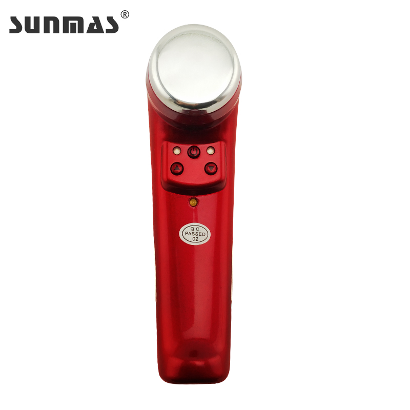 Portable Ultrasonic Hot Cold Face Lifting LED Skin Rejuvenation Light Therapy Face Lift Cleaner Anti Wrinkle Facial Beauty