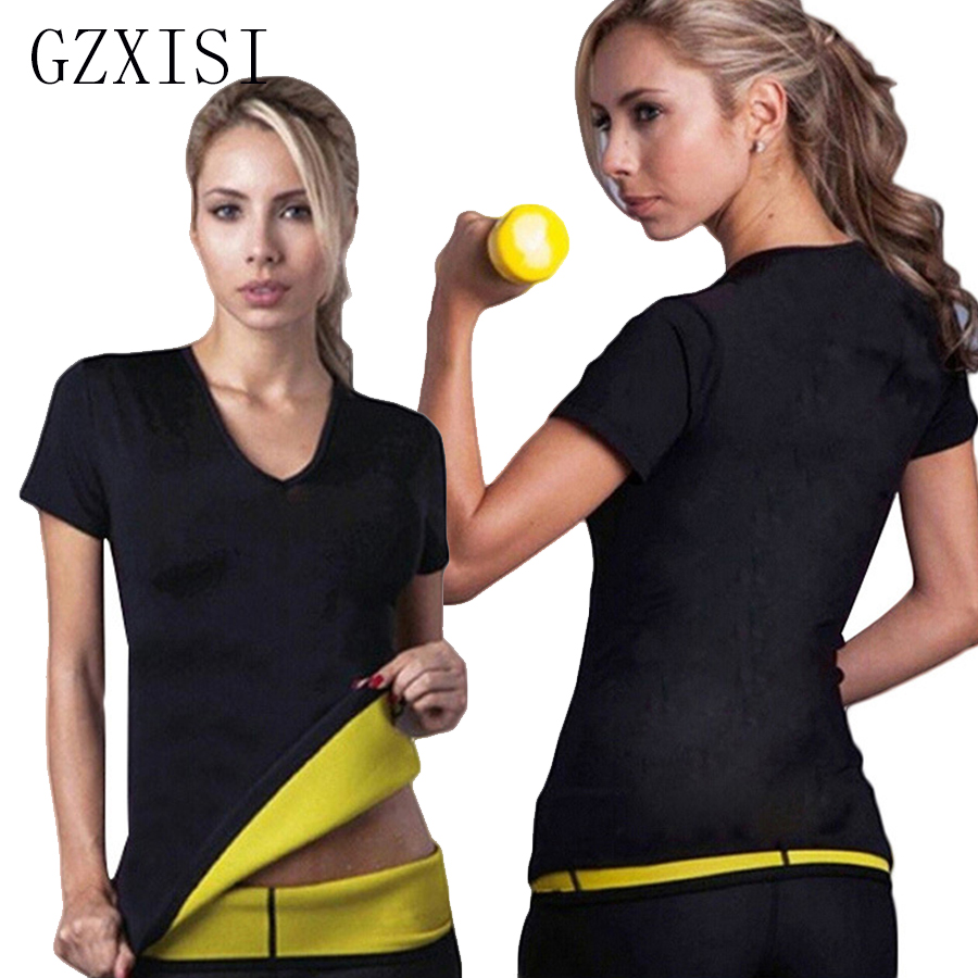 2017 New Arrival Women Neoprene T-shirt Hot Body Shapers Sweating Tops Fashion Girls Weight Loss Sauna Slimming Tops Hot Selling