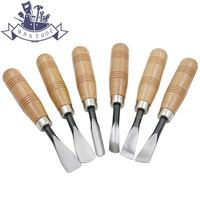 6Pcs Dry hand Wood Carving Tools Chip Detail Chisel set Knives tool