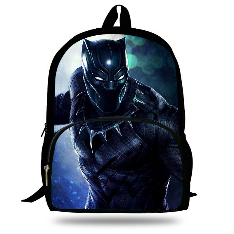 2631d47eca 16 Inch 2018 Hot Children Black Panther Marvel Backpacks For School Boys  Girls Printed Superhero Backpack For Kids Students-in School Bags from  Luggage ...