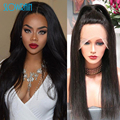 Brazilian Lace Front Human Hair Wigs Virgin Hair Natural Straight Full Lace Wig Black Women Full Lace Human Hair Wigs 130Density