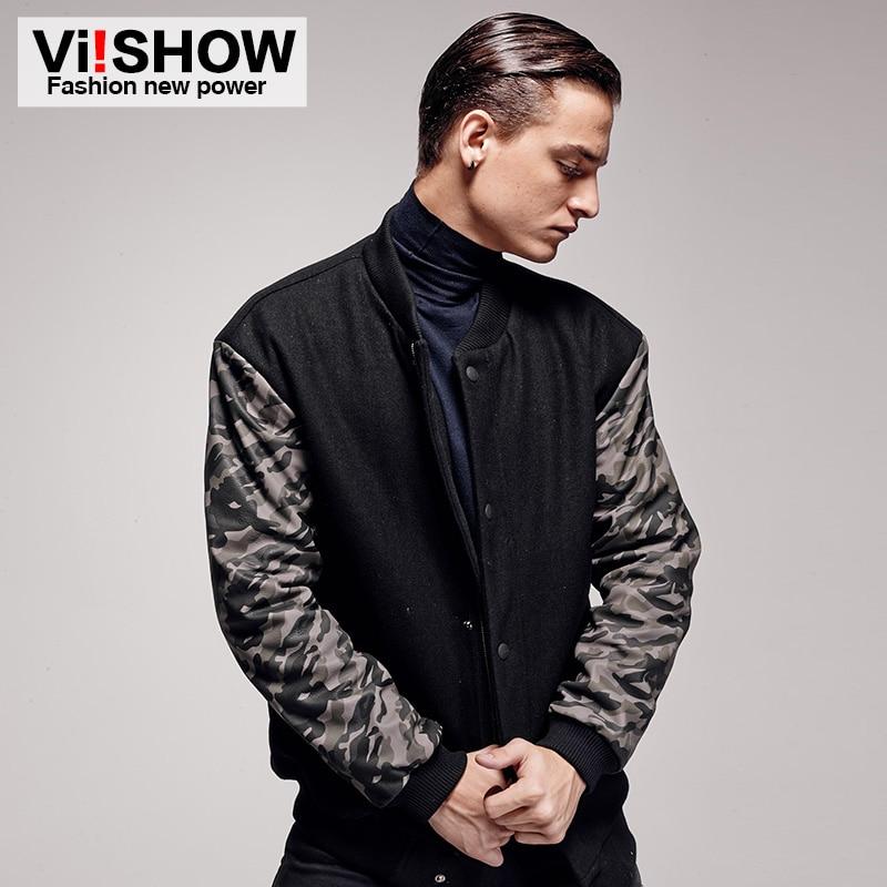Viishow Camouflage Jacket Men Brand Winter Coat  Mens Camouflage Parka Men Black Casual Jacket Suit Clothes mc52846
