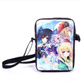 Anime Hyperdimension Neptunia Mini Messenger Bag Boys Girls School Bags Character Noire Daily Cross Bag Kids Gift Bags Bookbag
