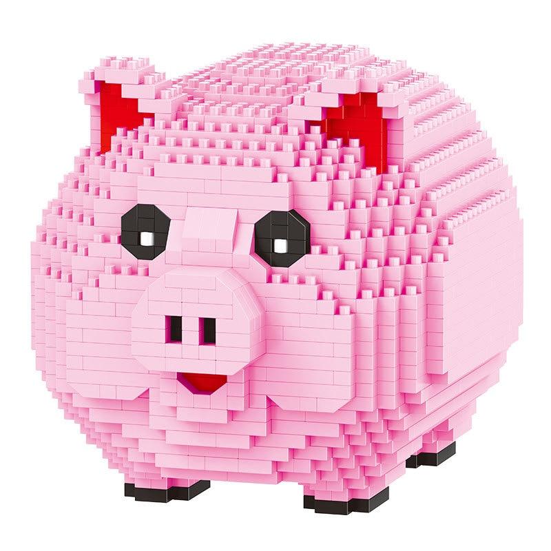 Balody мини-блоки Милая Розовая модель свинья строительные игрушки развивающие интеллектуальные кирпичи для детей подарок для экономии испол...