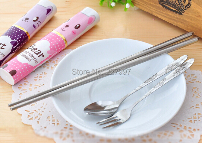 Free Shiping 100pcs/lot 3in1 Stainless Steel Cutlery Travel Chopstick Spoon Fork Portable Dinnerware 6 types & Free Shiping 100pcs/lot 3in1 Stainless Steel Cutlery Travel ...