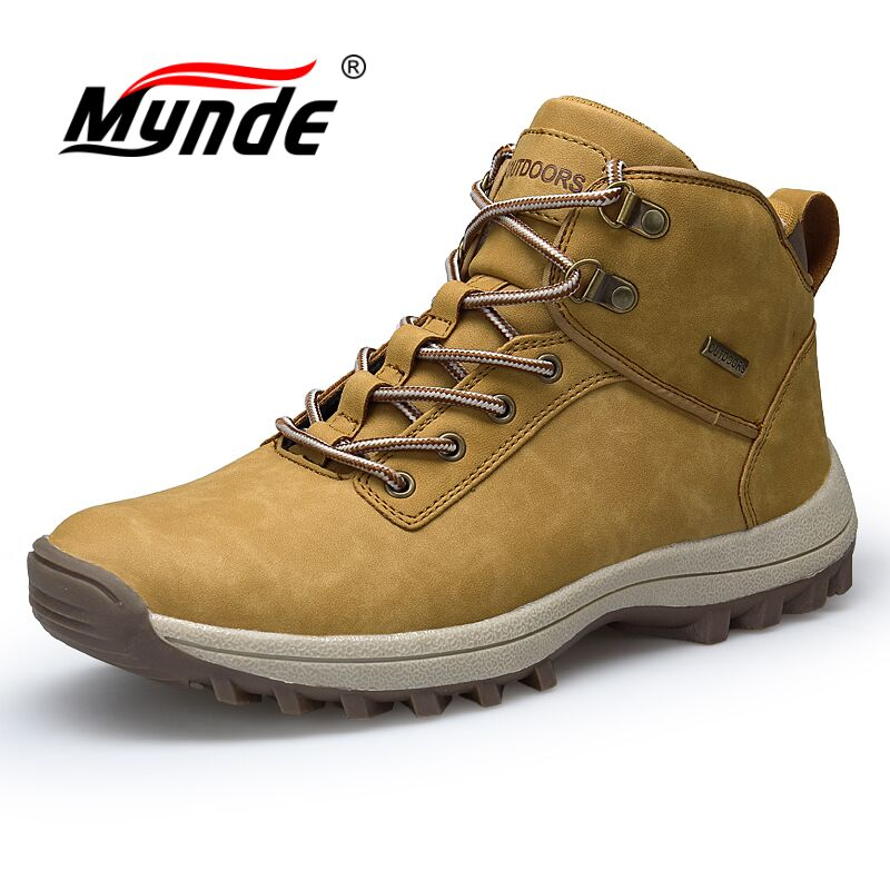 Mynde Brand Men Boots Big Size 39-46 Lace-Up Casual Autumn Winter Boots Mens Fashion Sneakers Ankle Work Man Shoes Snow Boots