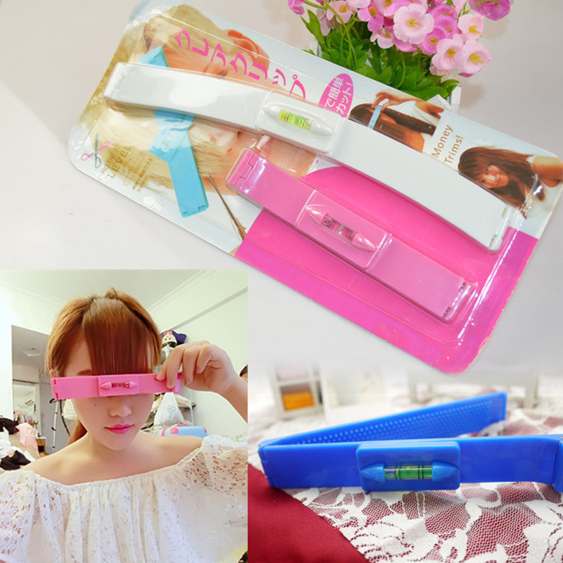 Hair Bangs Clippers Trimmer Plastic Level Instrument Ruler DIY Hair Clip Accessories Cut ...