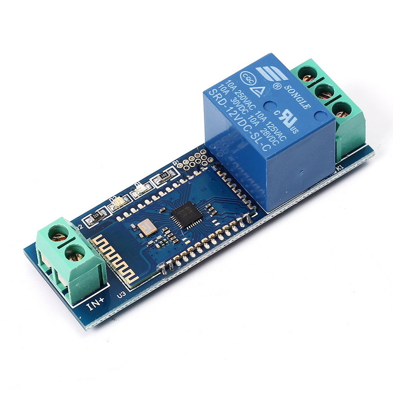 Smart Bluetooth Relay Module Remote Control Switch 12V IOT Wireless Module Mobile Phone Bluetooth Remote Control Switch Internet
