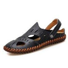 купить Summer Sandals Men Leather Classic Roman Sandals Slipper Outdoor Beach Sandals Sneaker Beach Rubber Flip Flops Men Water Shoes по цене 1611.62 рублей