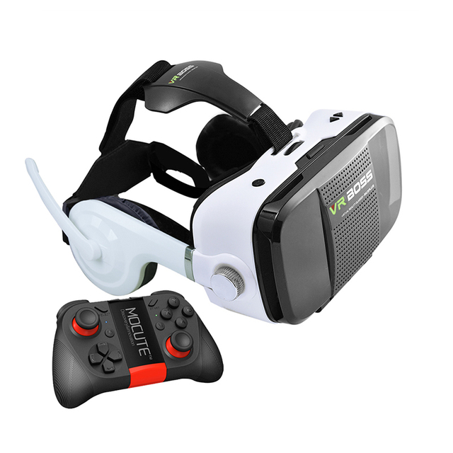 "VR BOSS Z5 Virtual Reality VR With Microphone and Headset Google Cardboard VR Glasses for 4""~6"" Smartphone"