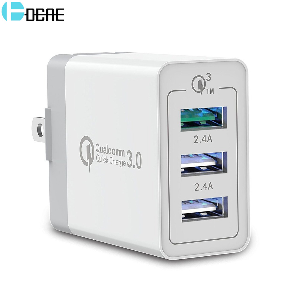 Dcae 3 Usb Qc 30 Charger For Iphone X 8 Ipad Samsung S9 S8 Huawei Casan 3usb 2018 New High Quality 10 Port Fast Charging Station Power Adapter Wall Travel Desktop