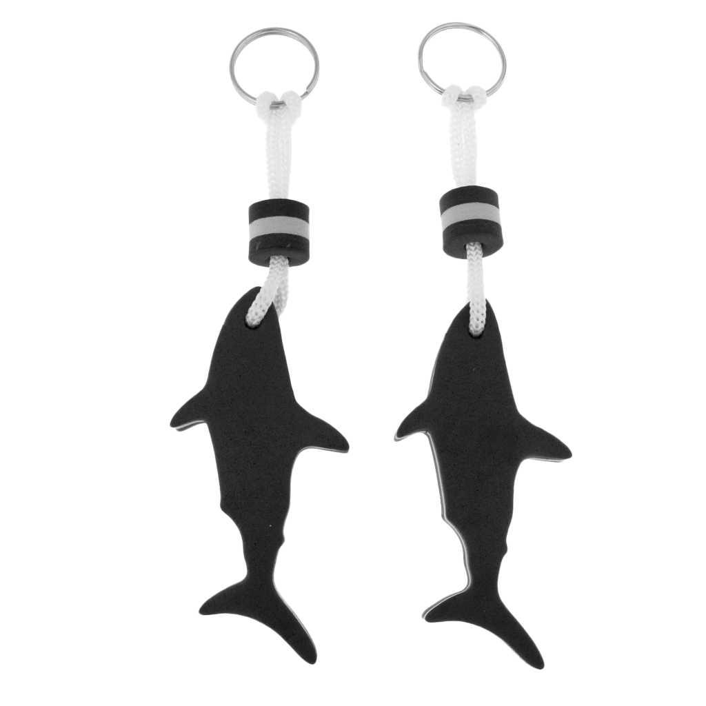 2 шт. в форме акулы EVA Foam брелок с цепочкой для ключей Yachting Sailing Плавание Серфинг лодка рыбалка брелок воды ключ поплавок-Выберите цвета