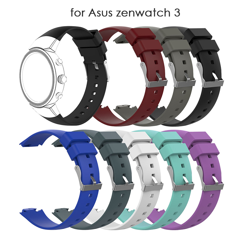 Smart Accessories For ZENWATCH 3 Watch Band Soft Silicone Man Watch Replacement Bracelet Strap For Asus zenwatch 3 Watch