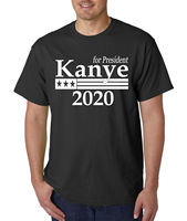 Kanye West For President 2020 T Shirt Funny Rap Hip Hop Tee Mens T Shirts Fashion