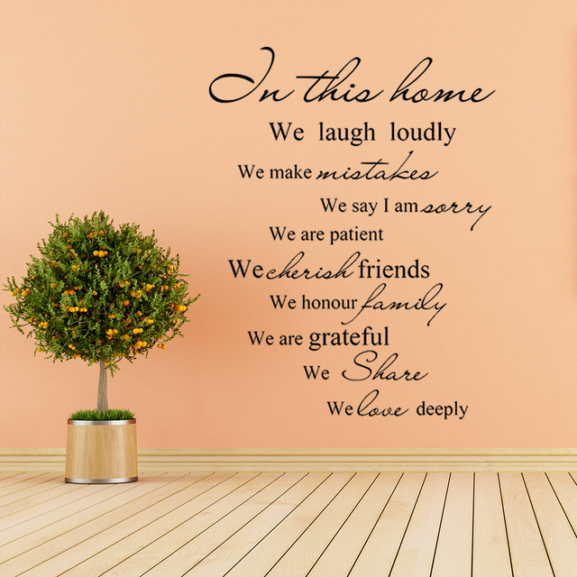 In This Home Laugh Loudly Love Home Wall Decal Decor Saying ...