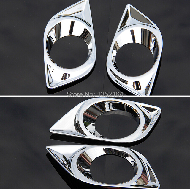 Front fog light cover, lamp cover trim for  sunnyi 2011,ABS chrome,auto accessories