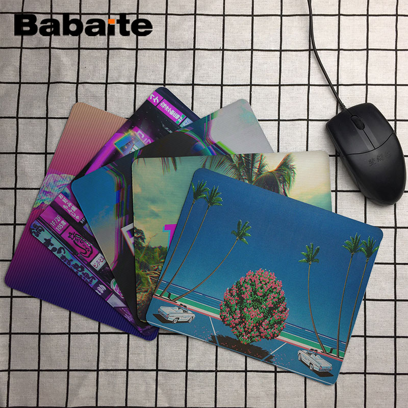 Babaite  Vaporwave Comfort Mouse Mat Gaming Mousepad Size For  25x29cm Gaming Mousepads