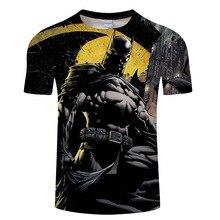 Новая модная 3D футболка с Суперменом, Бэтменом, Халком, Звездными войнами, летняя Стильная мужская повседневная футболка с коротким рукавом, футболки с супергероями, 6xl